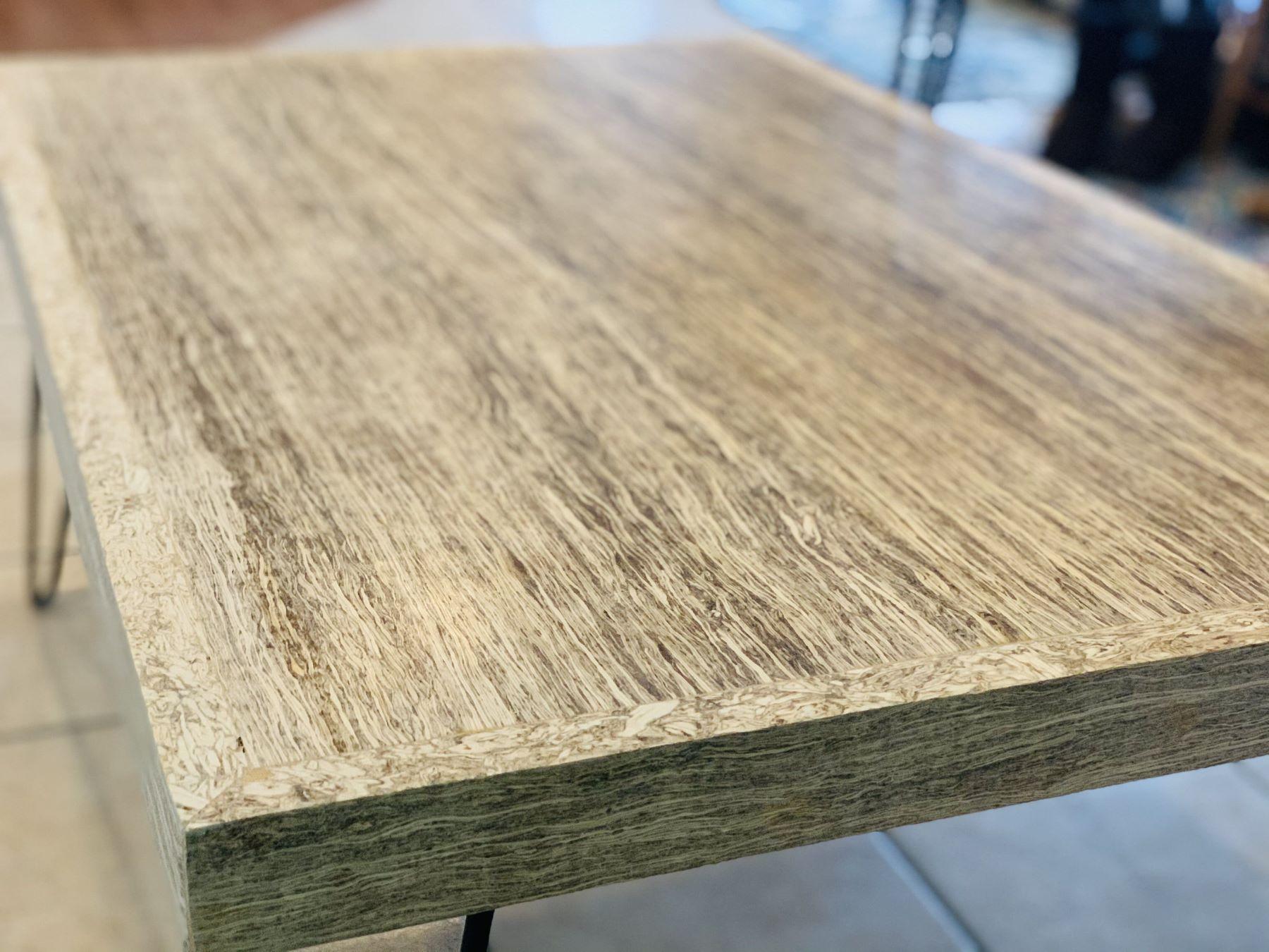 finished hempwood table