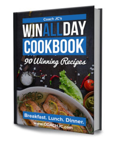 Win All Day Mock Up Cover Cook Book - Version 1 - Coach JC