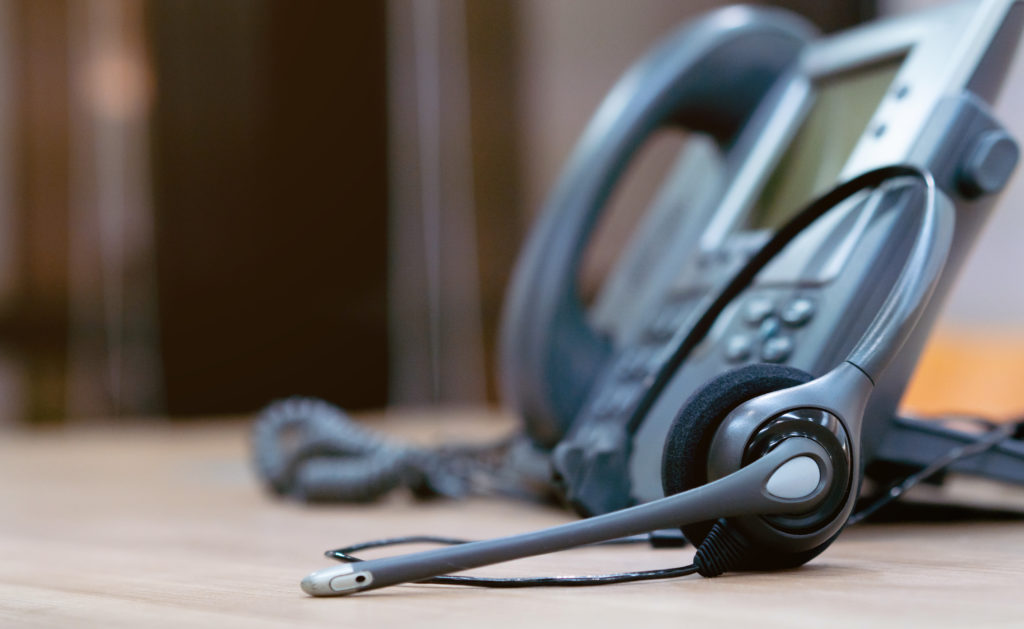 Telephone with Headset