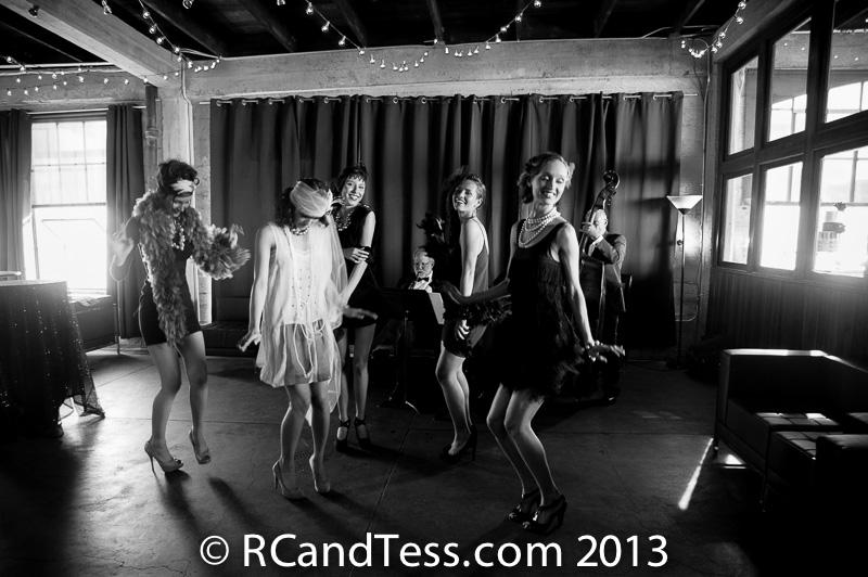 models dancing bw