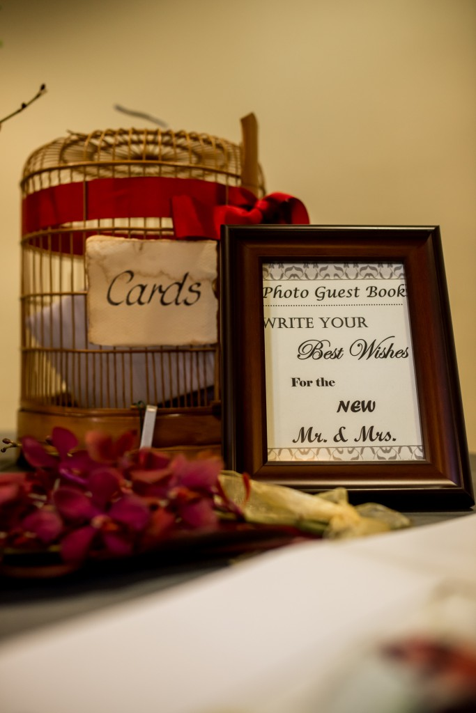 cards and guest book