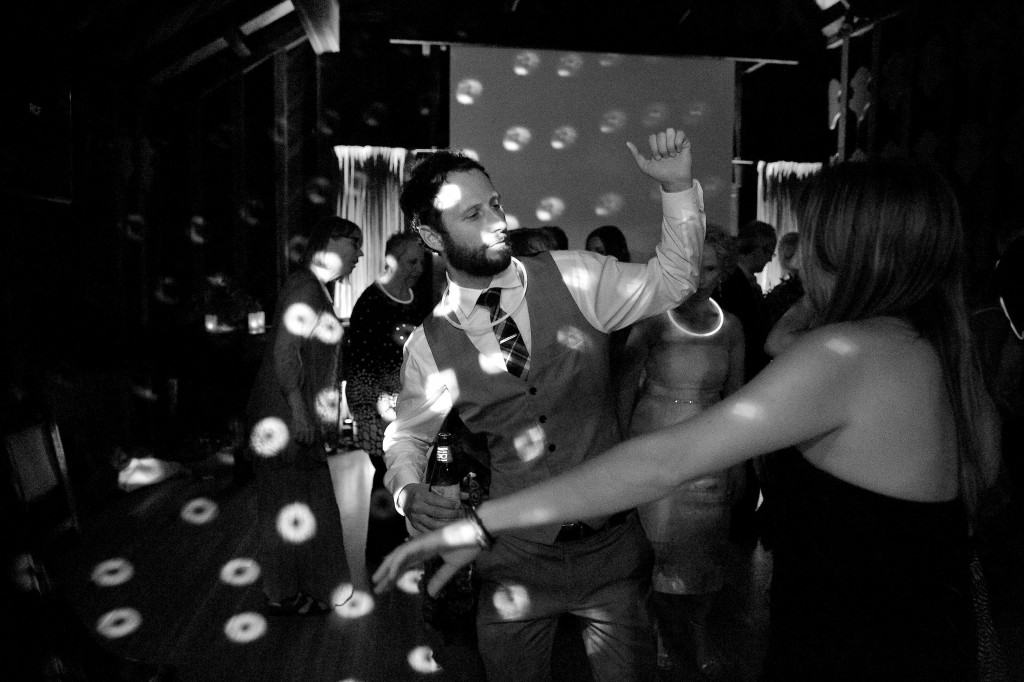 dance party blk whte