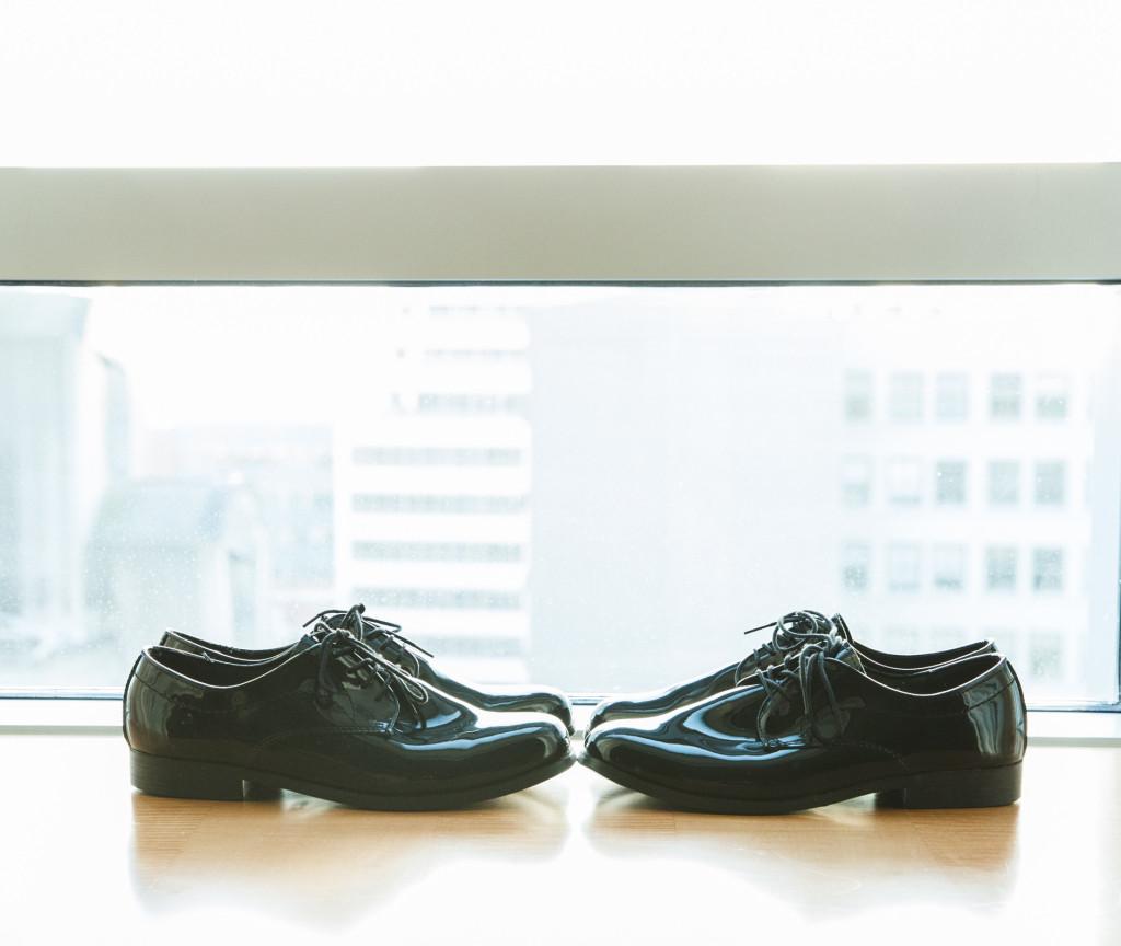 shoes in window