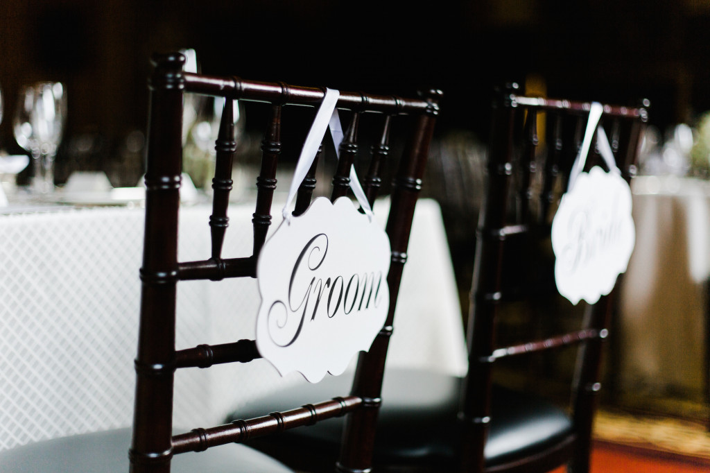 Bride Groom signs