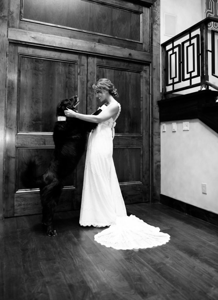 10.) Bride and dog