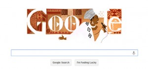 Civil rights activist and South African singer Miriam Makeba honored in Google Doodle.