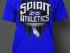 Spirit Athletics Black and Blue front