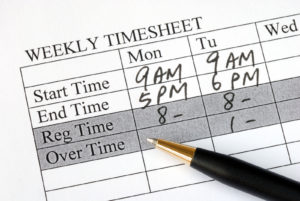 Timesheet for Overtime