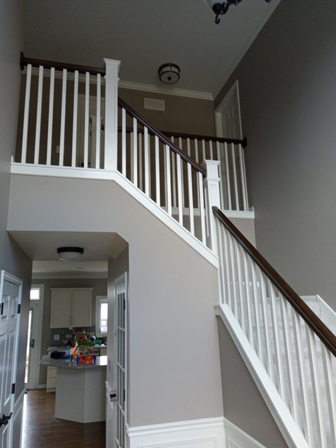 Stained Top Stairs After