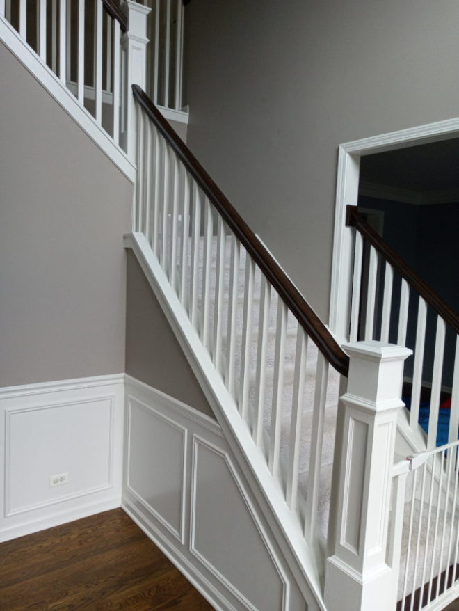 Stained Top Stairs After.