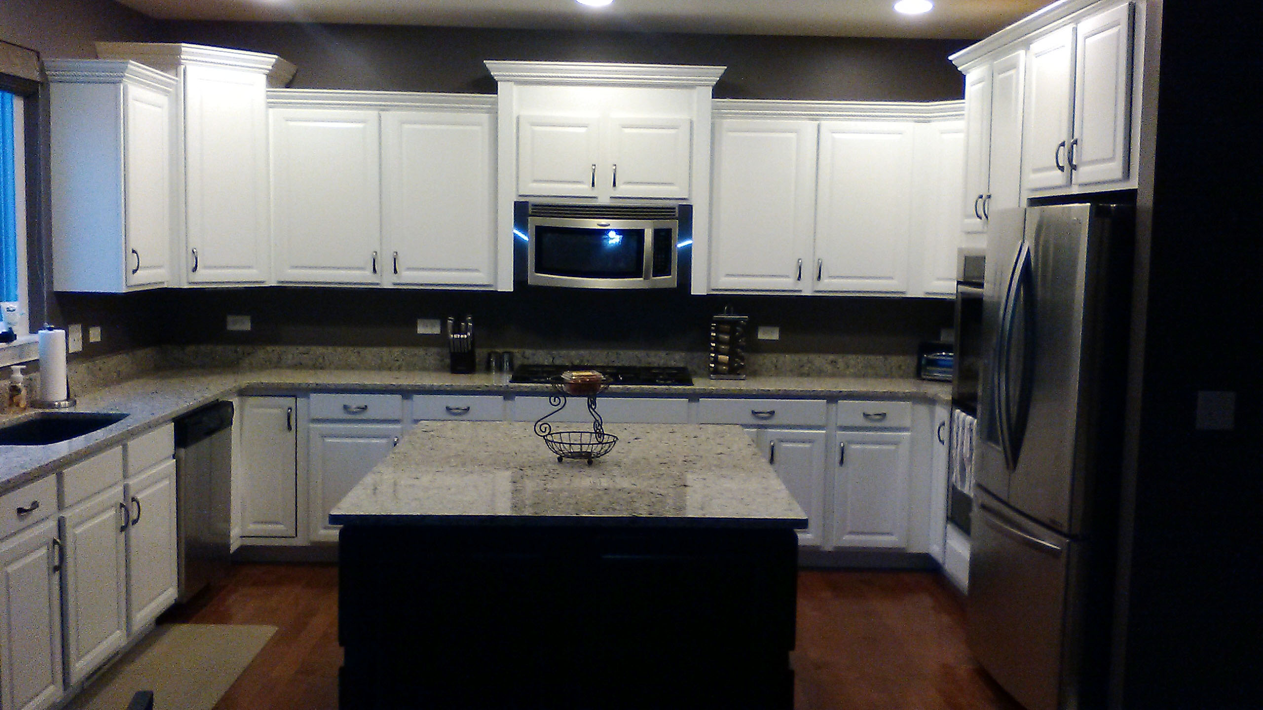 Maple to White Cabinets After