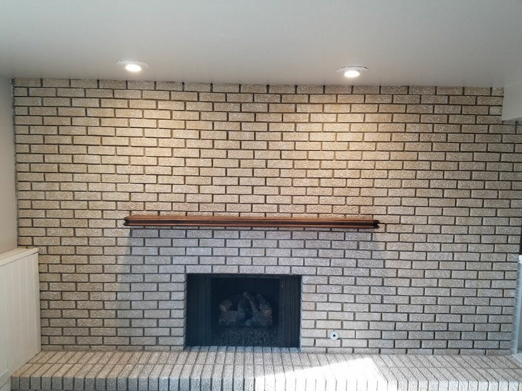 Beige Fireplace After