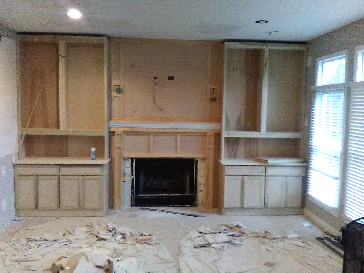 Family Room Cabinet Install