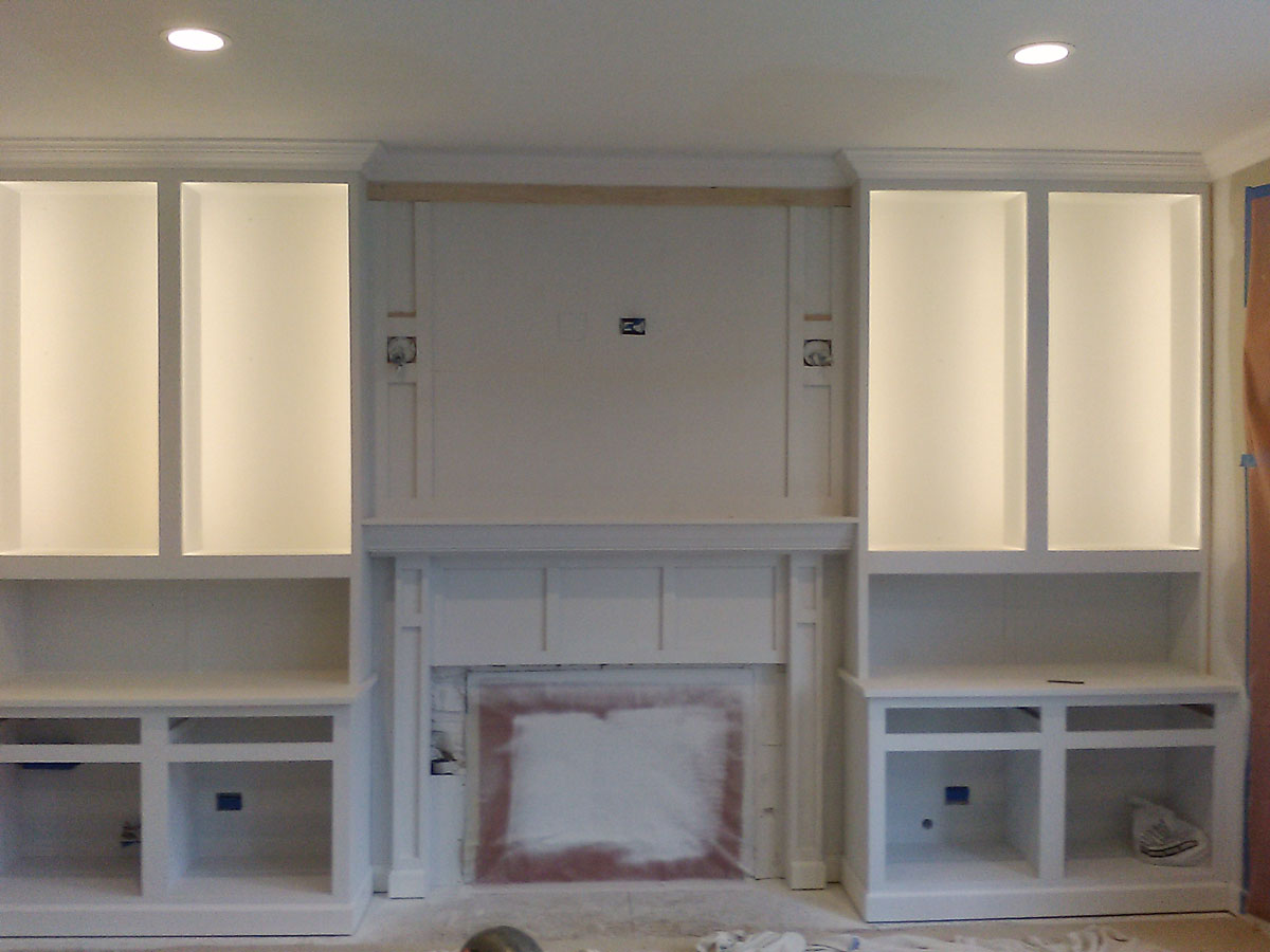 Family Room Cabinet Paint