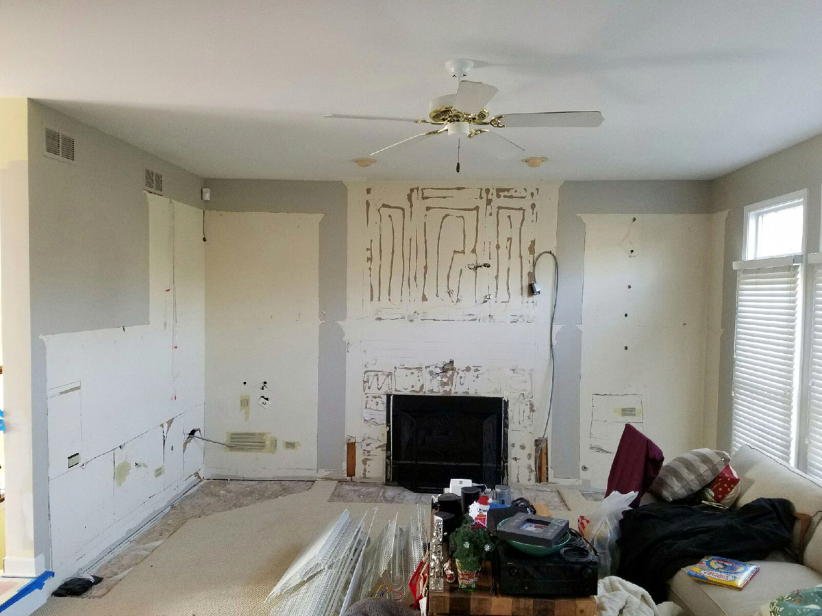 Family Room cabinet Removal