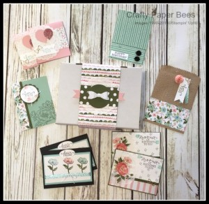 Ann's PaperWorks #stampinup Crafty Paper Bees Charity Card Day