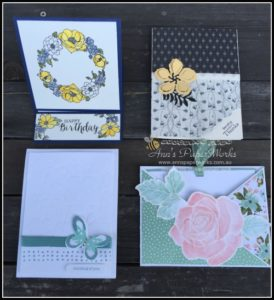 Fancy Fold Card May card making class Stampin' Up! Ann's PaperWorks Ann Lewis Stampin' Up! (Aus)