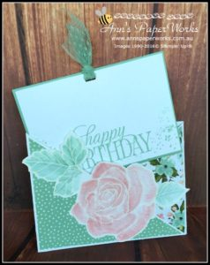 Criss Cross Card featuring Stampin' Up! Rose Wonder and Birthday Bouquet  Ann's PaperWorks  Ann Lewis  Stampin' Up! (Aus) online store 24/7