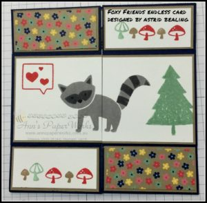 Foxy Friends Endless Card Crafty Paper Bees Crafty Party 2016-17 Stampin' Up! Catalogue Ann's PaperWorks Ann Lewis Stampin' Up! (Aus)| online store 24/7