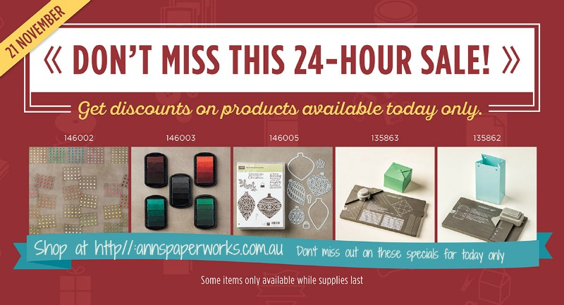 Online Stampin' Up! Sale, Online Extravaganza, Ann's PaperWorks| Ann Lewis| Stampin' Up! (Aus) available from my online store 24/7