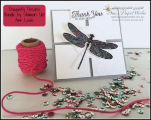 Dragonfly Dreams bundle, Hexagons Dynamic Textured Impressions Embossing Folder, Stampin' Up! Ann's PaperWorks, Ann Lewis, Stampin' Up! (Aus)|Stampin' Up! 2017 Occasions Catalogue| online store