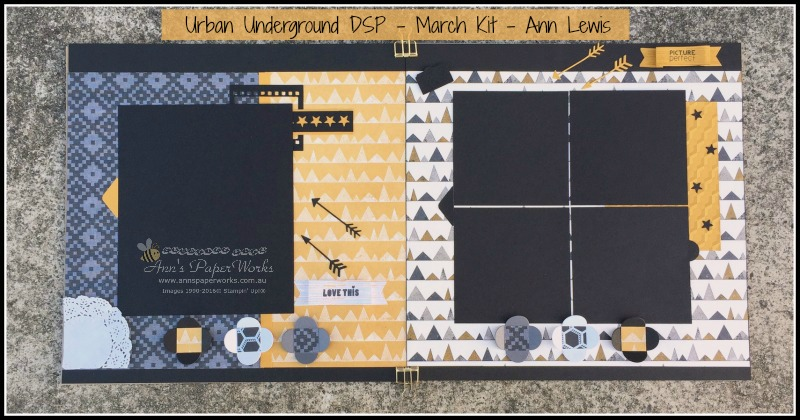Urban Underground DSP March Kit, Stampin' Up! Ann's PaperWorks Ann Lewis Stampin' Up! (Aus)|Scrapbooking/Project Life class, online store 24/7