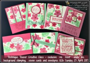 Card Class, Blooms and Wishes Stamp Set, One Sheet Wonder, Stampin' Up! Ann's PaperWorks, Ann Lewis, Stampin' Up! (Aus)|Stampin' Up! 2017 Occasions Catalogue| online store 24/7