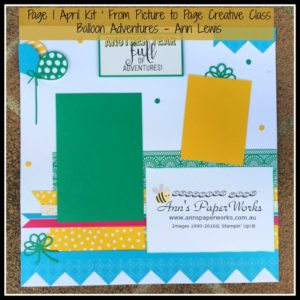 April Creative Class Kit, Balloon Adventures, Stampin' Up! Ann's PaperWorks Ann Lewis Stampin' Up! (Aus)|Scrapbooking/Project Life class, online store 24/7