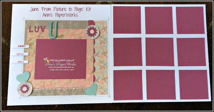 Exclusive June kit 'From Picture to Page' Creative Class, Stampin' Up! Ann's PaperWorks Ann Lewis Stampin' Up! (Aus) Scrapbooking/Project Life class