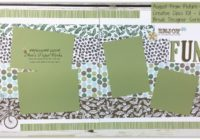 Coffee Break DSP, four picture double layout, Bike Ride bundle, Stampin' Up! Ann's PaperWorks Ann Lewis Stampin' Up! (Aus)|Scrapbooking/Project Life class