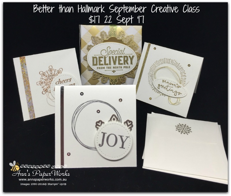 Year of Cheer Suite, Better than Hallmark Creative Class, cardmaking class, Stampin' Up! 2017 Christmas Holiday Catalogue Ann's PaperWorks| Ann Lewis| Stampin' Up! (Aus) online store 24/7