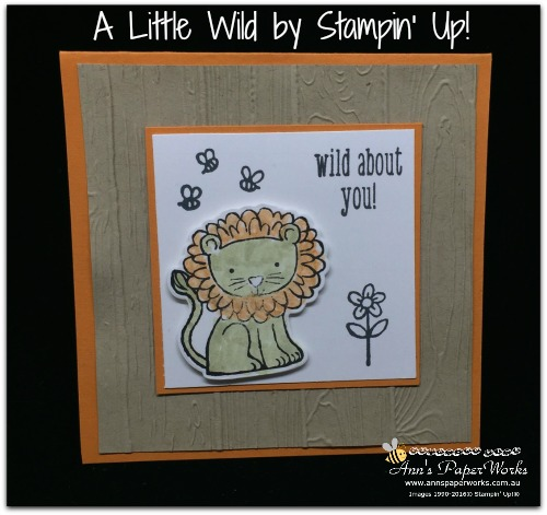A Little Wild by Stampin' Up! Stampin' Up! 2017-18 Catalogue Ann's PaperWorks  Ann Lewis  Stampin' Up! (Aus) online store 24/7