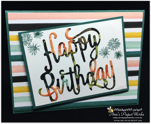 Happy Birthday Thinlits, Happy Birthday Card, Whole Lot of Lovely DSP, Global Stampers, Blog Hop, Stampin' Up! 2017-18 Catalogue Ann's PaperWorks| Ann Lewis| Stampin' Up! (Aus) online store 24/7