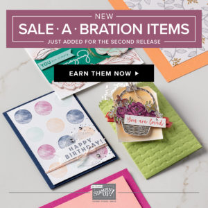 Sale-a-Bration Release 2, Ann's PaperWorks| Ann Lewis| Stampin' Up! (Aus) available from my online store 24/7, FREE item for every $90 purchase