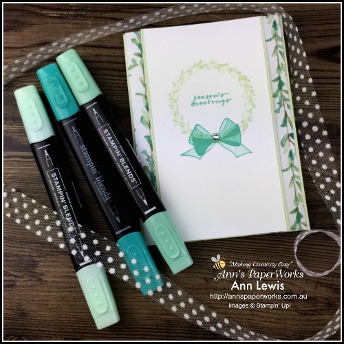 Wishing You Well Stamp Set, Global Stampers Challenge Blog Hop, Christmas card, thinking of you card, generic handmade card, Stampin' Up! 2018 Christmas Holiday Catalogue Ann's PaperWorks| Ann Lewis| Stampin' Up! (Aus) online store 24/7