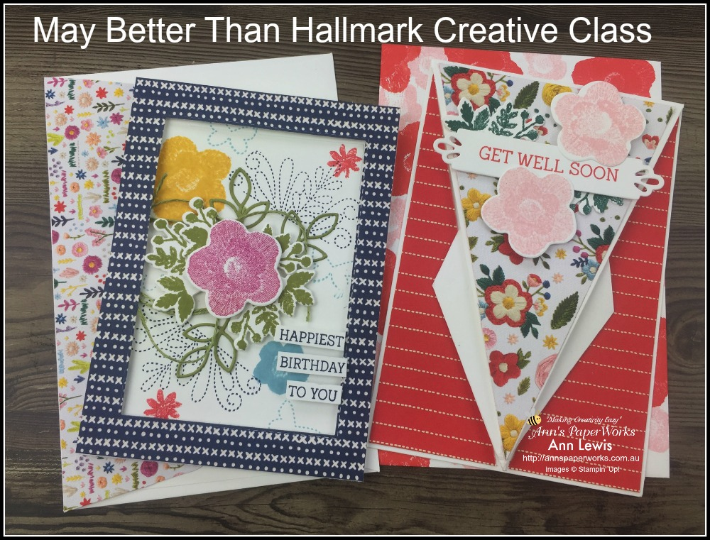Needle and Thread bundle, Arrow card, classes, cardmaking, handmade cards, Stampin' Up! 2018-19 Catalogue Ann's PaperWorks| Ann Lewis| Stampin' Up! (Aus) online store 24/7, Ann Lewis, Ann's PaperWorks