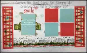 Capture the Good Stamp Set, Waterfront Stamp Set, Artisan Textures Stamp Set, Camera, Smile double page scrapbooking layout, Scrapbooking kit, scrapbooking class,  Stampin' Up! 2019-20 Catalogue Ann's PaperWorks| Ann Lewis| Stampin' Up! (Aus) online store 24/7
