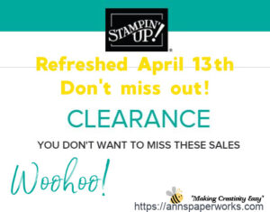 Clearance Rack, Stampin' Up!  Ann's PaperWorks| Ann Lewis| Stampin' Up! (Aus) online store 24/7