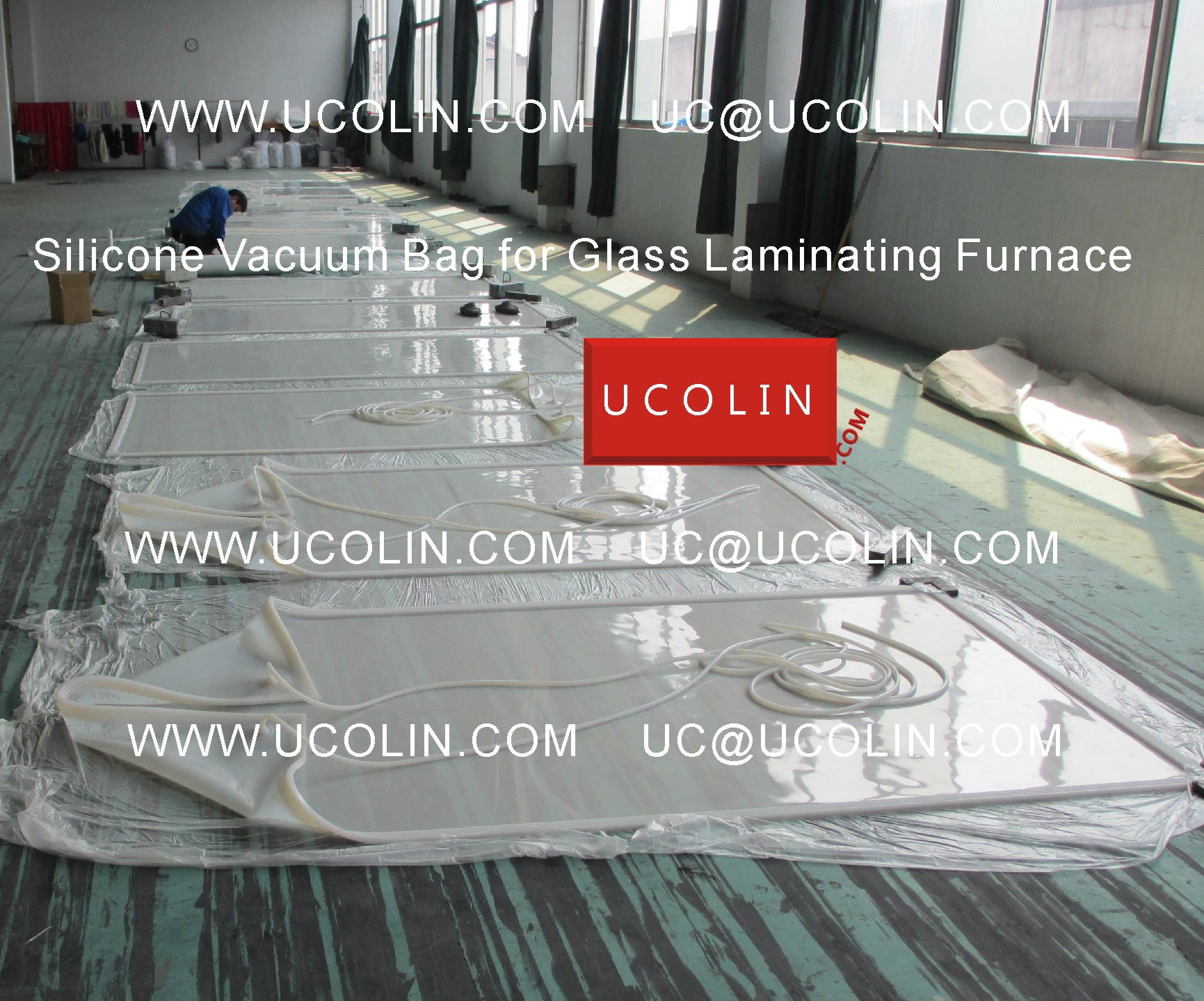 01 Producing of Silicone Vacuum Bag for Glass Laminating Furnace