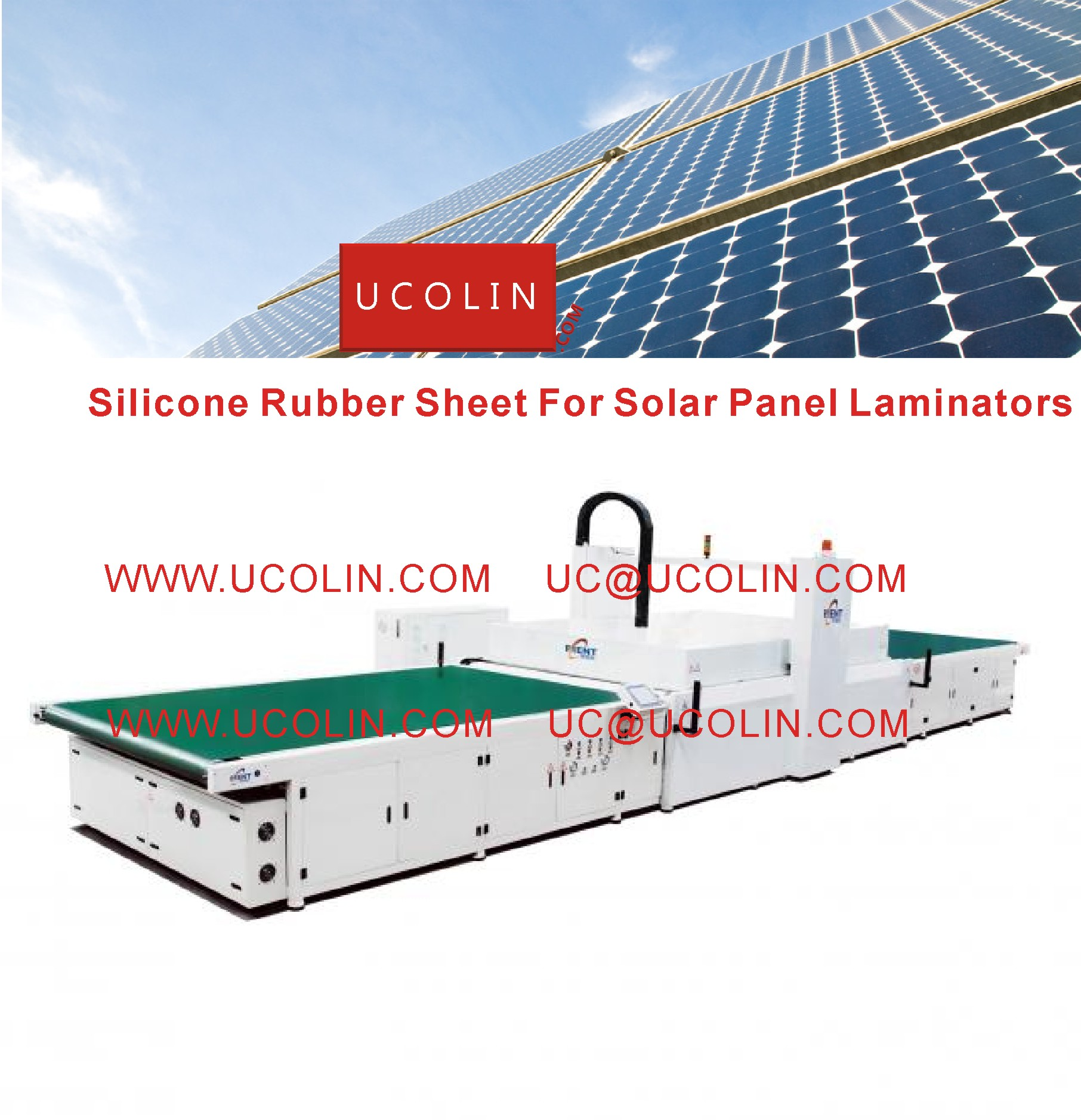 01 Silicon Rubber Sheet For Solar Panel Laminators