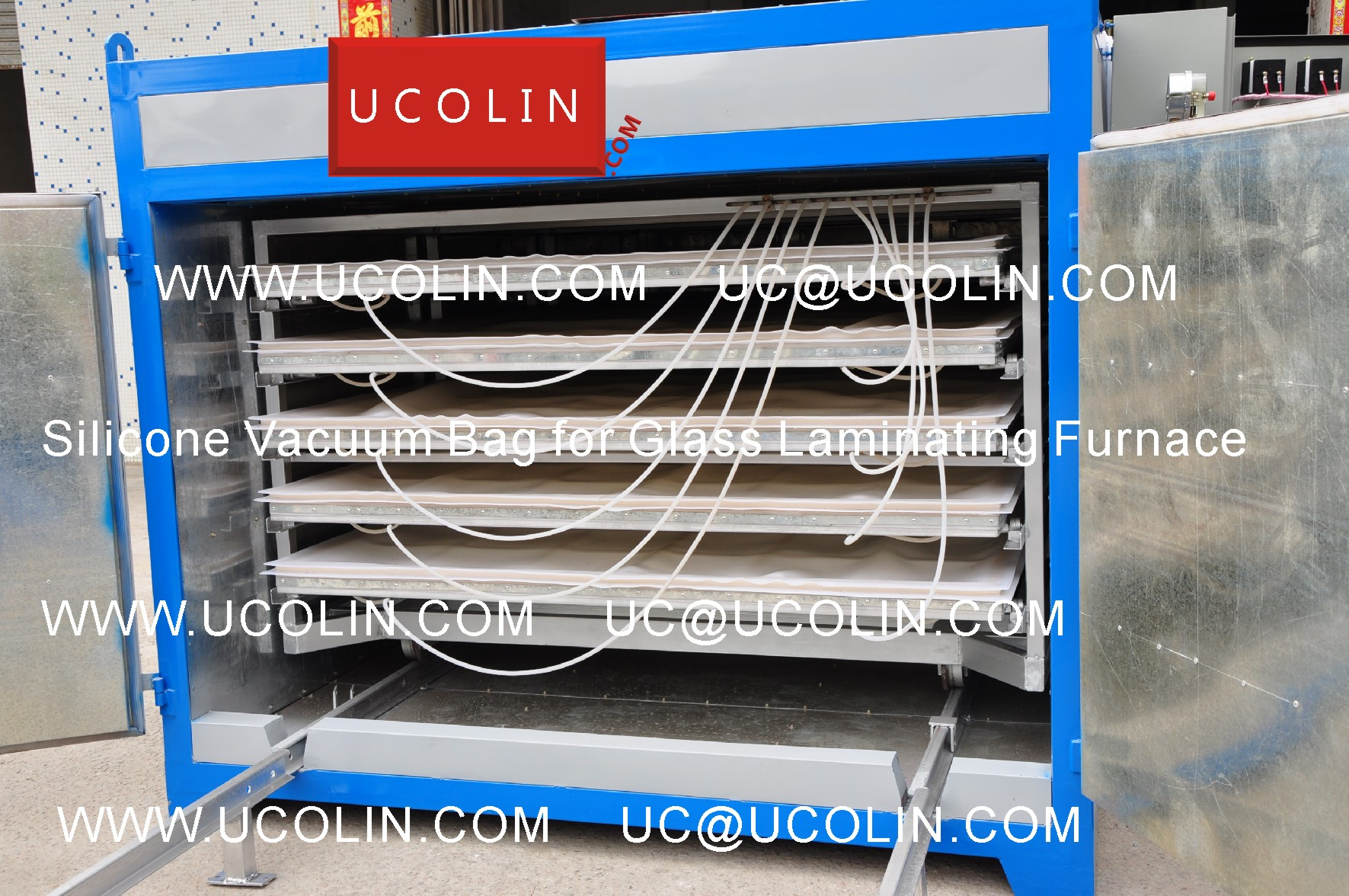03 Application of Silicone Vacuum Bag for Glass Laminating Furnace