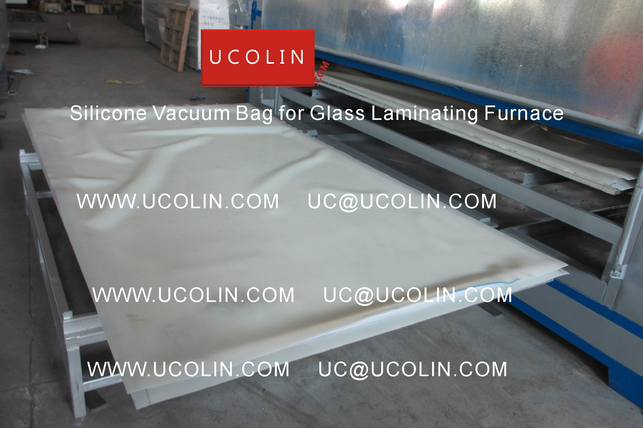 05 Application of Silicone Vacuum Bag for Glass Laminating Furnace
