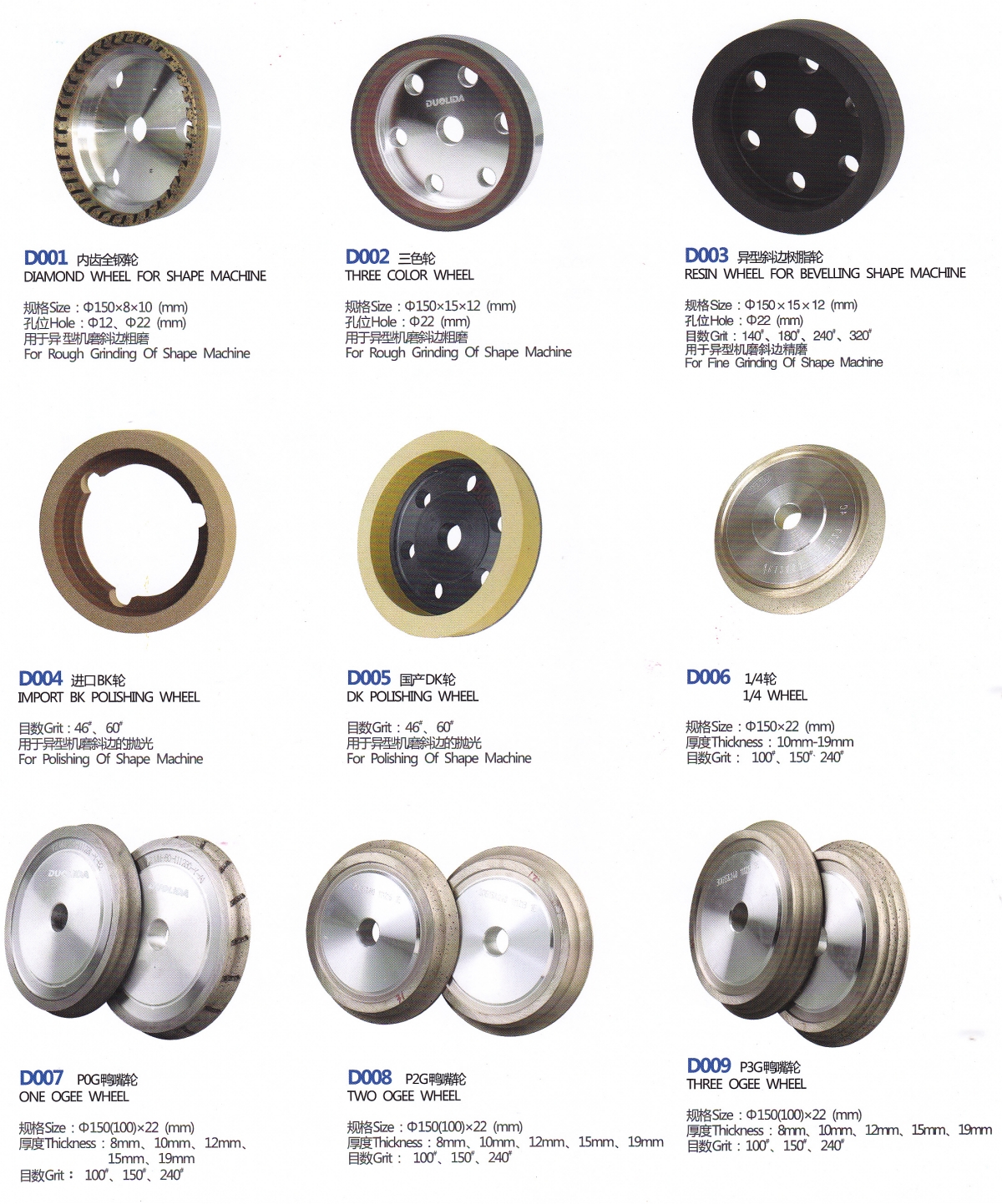 18_Wheels&Accessories for Shape Glass Edging Machine