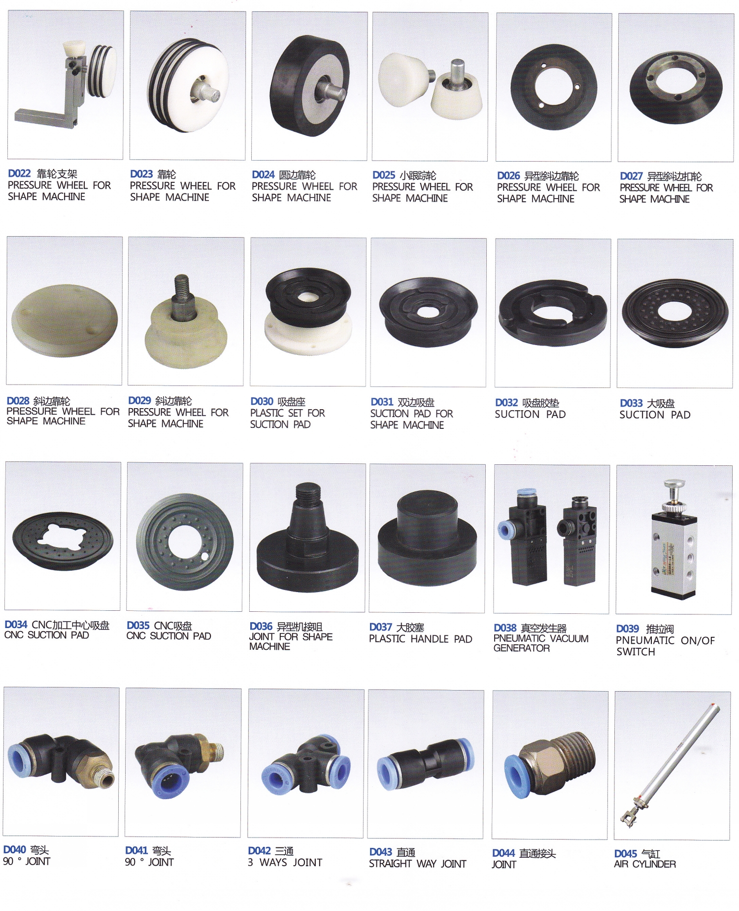 21_Wheels&Accessories for Shape Glass Edging Machine