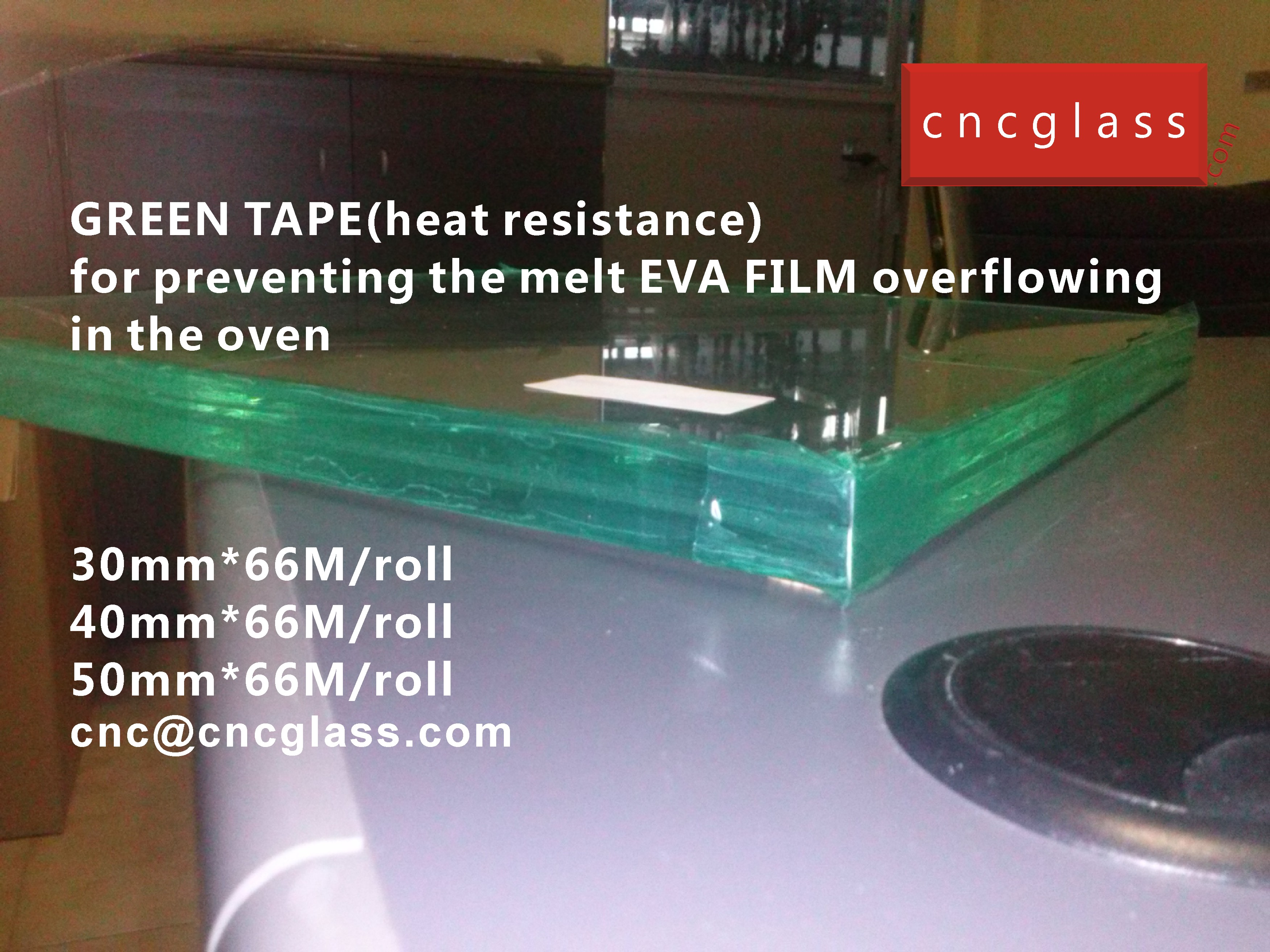02 HOW TO USE GREEN TAPE(HEAT RESISTANCE) IN EVA FILM GLASS LAMINATING