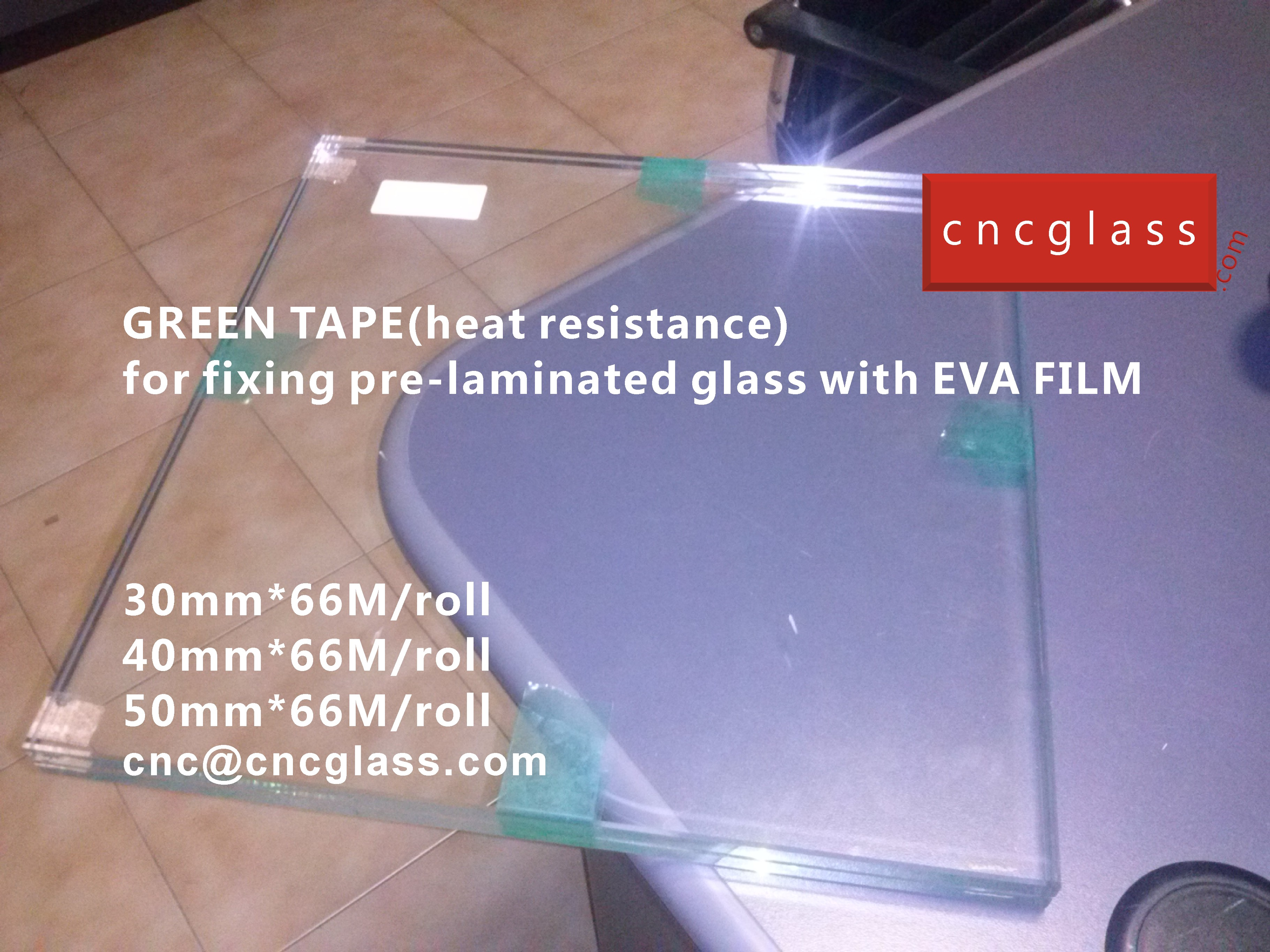 04 HOW TO USE GREEN TAPE(HEAT RESISTANCE) IN EVA FILM GLASS LAMINATING