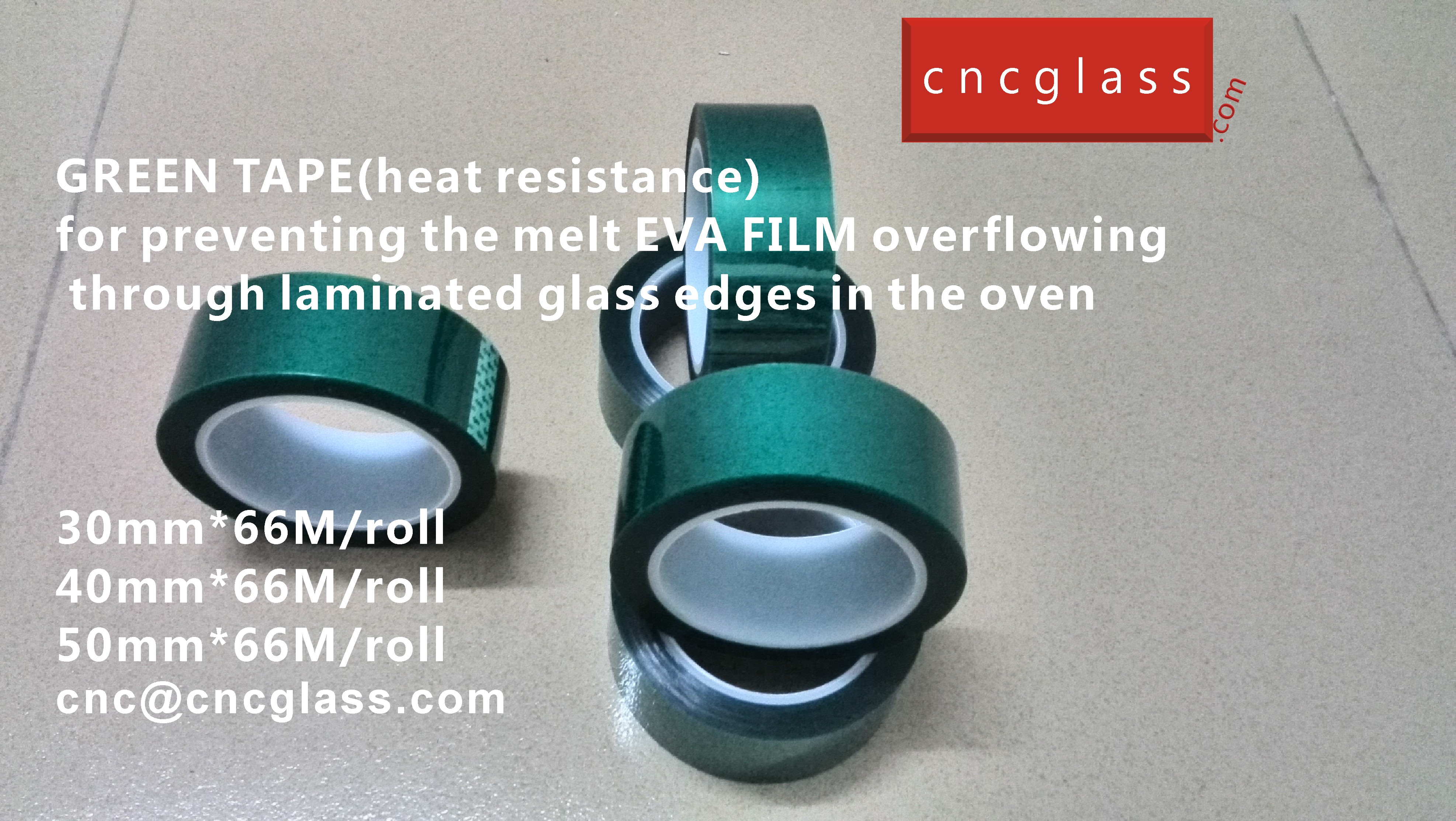 05 HOW TO USE GREEN TAPE(HEAT RESISTANCE) IN EVA FILM GLASS LAMINATING GLAZING