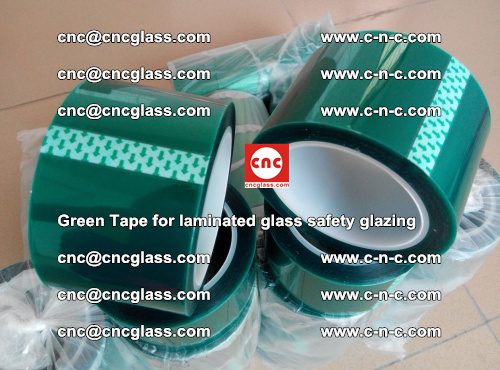 Green Tape for laminated glass safety glazing, EVA FILM, PVB FILM, SGP INTERLAYER (65)