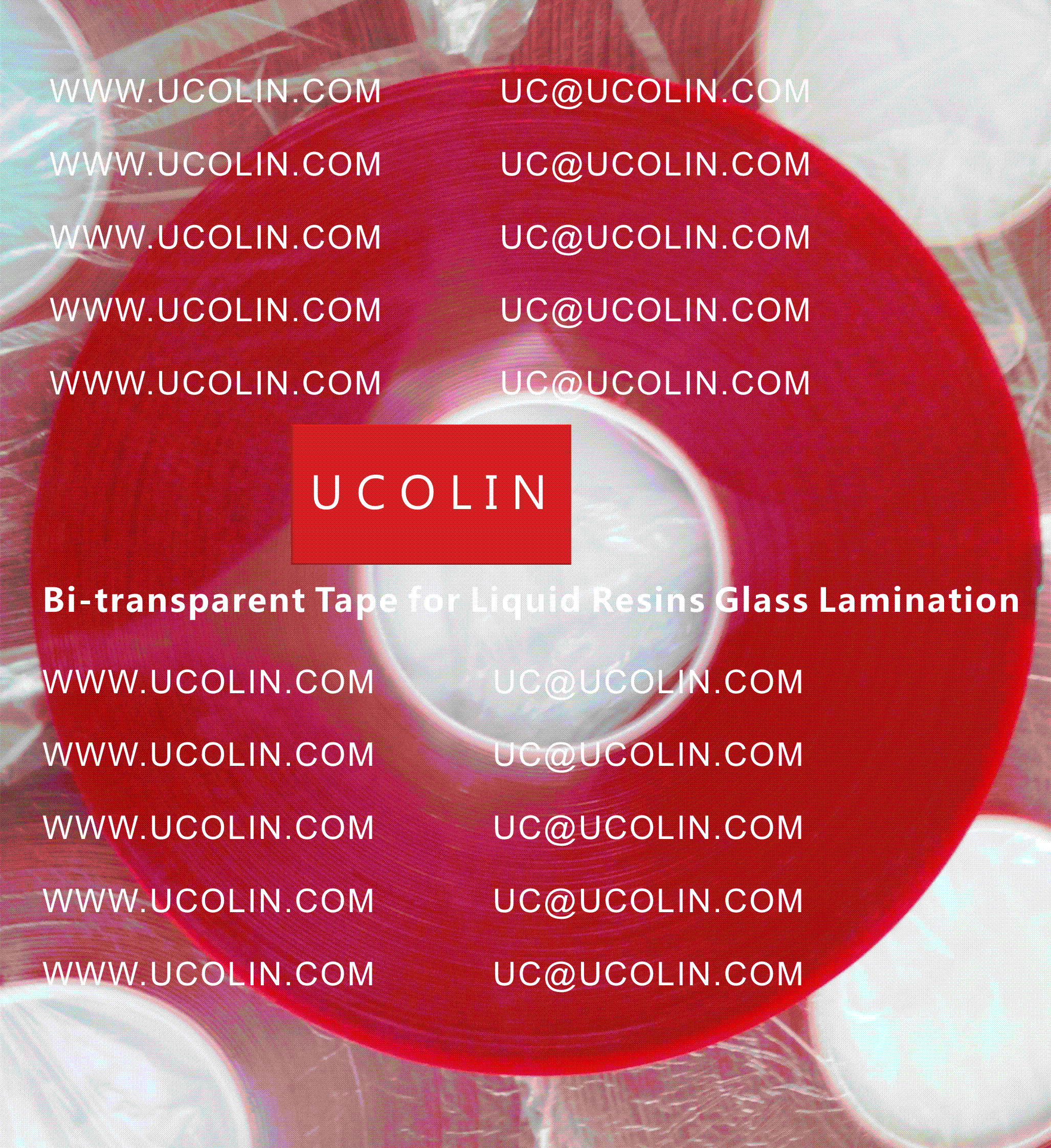 000 Bi-transparent Tape for Liquid Resins for Glass Lamination