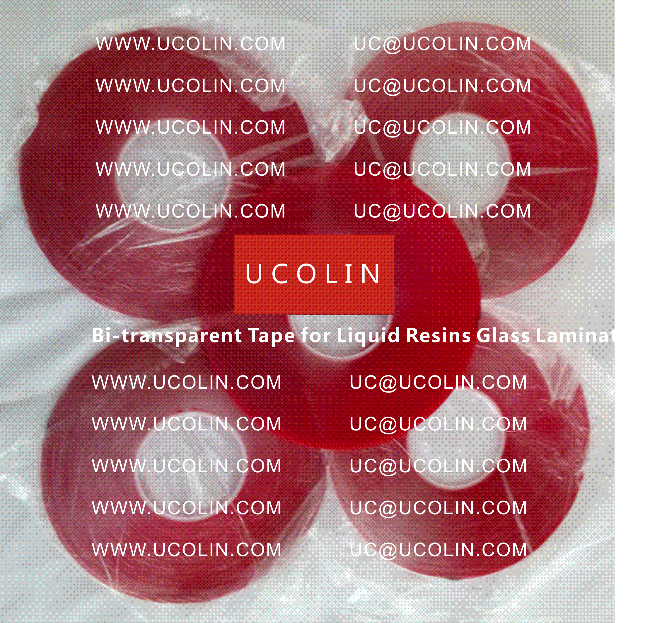002 Bi-transparent Tape for Liquid Resins for Glass Lamination